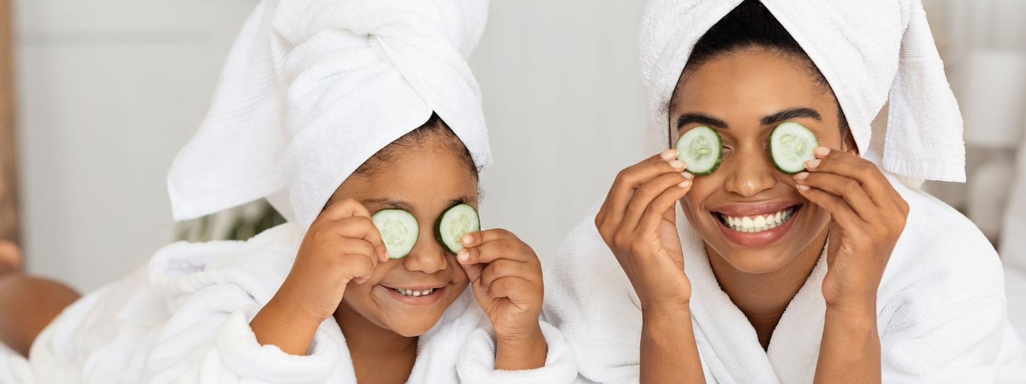 Two people having facial treatments at Daydream Island Resort
