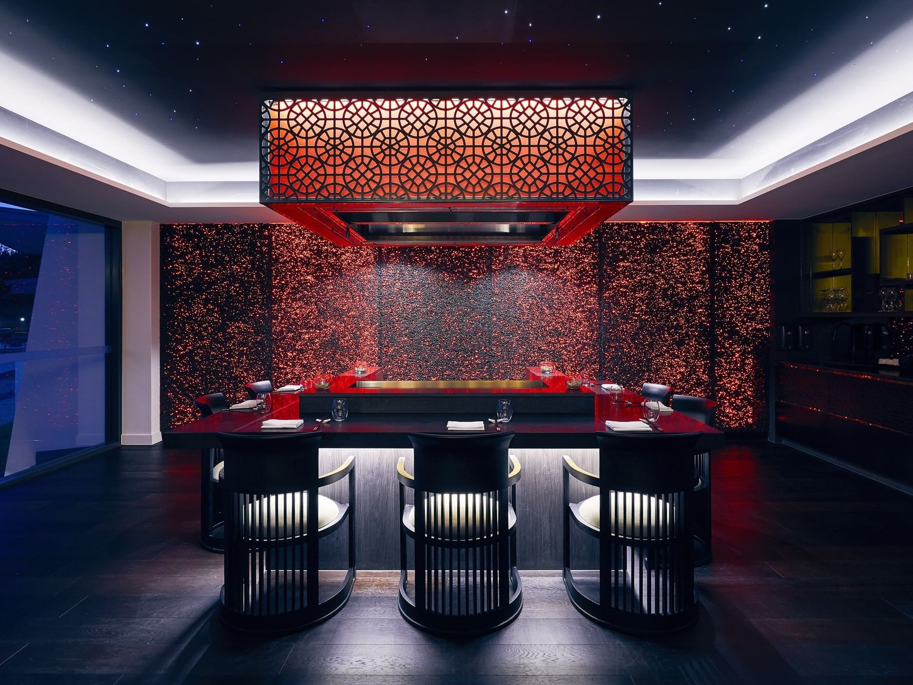 Bar counter in Infinity Restaurant at Daydream Island Resort
