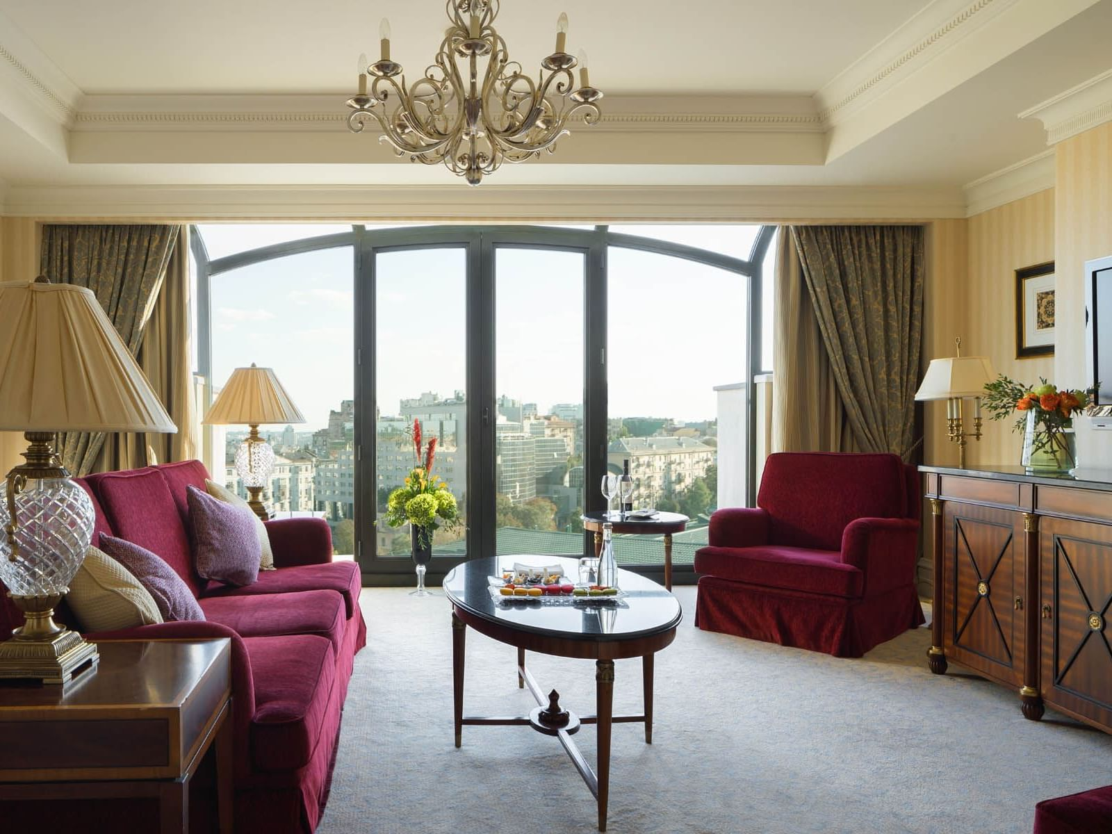 Sunlight living  Governor Suite  at Intercontinental Kyiv hotel