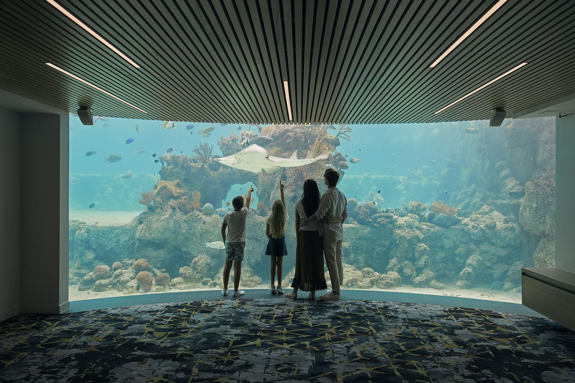 Family in Underwater Observatory at Daydream Island Resort