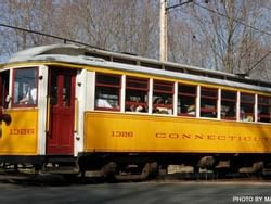 CT Trolley Museum near The Farmington Inn