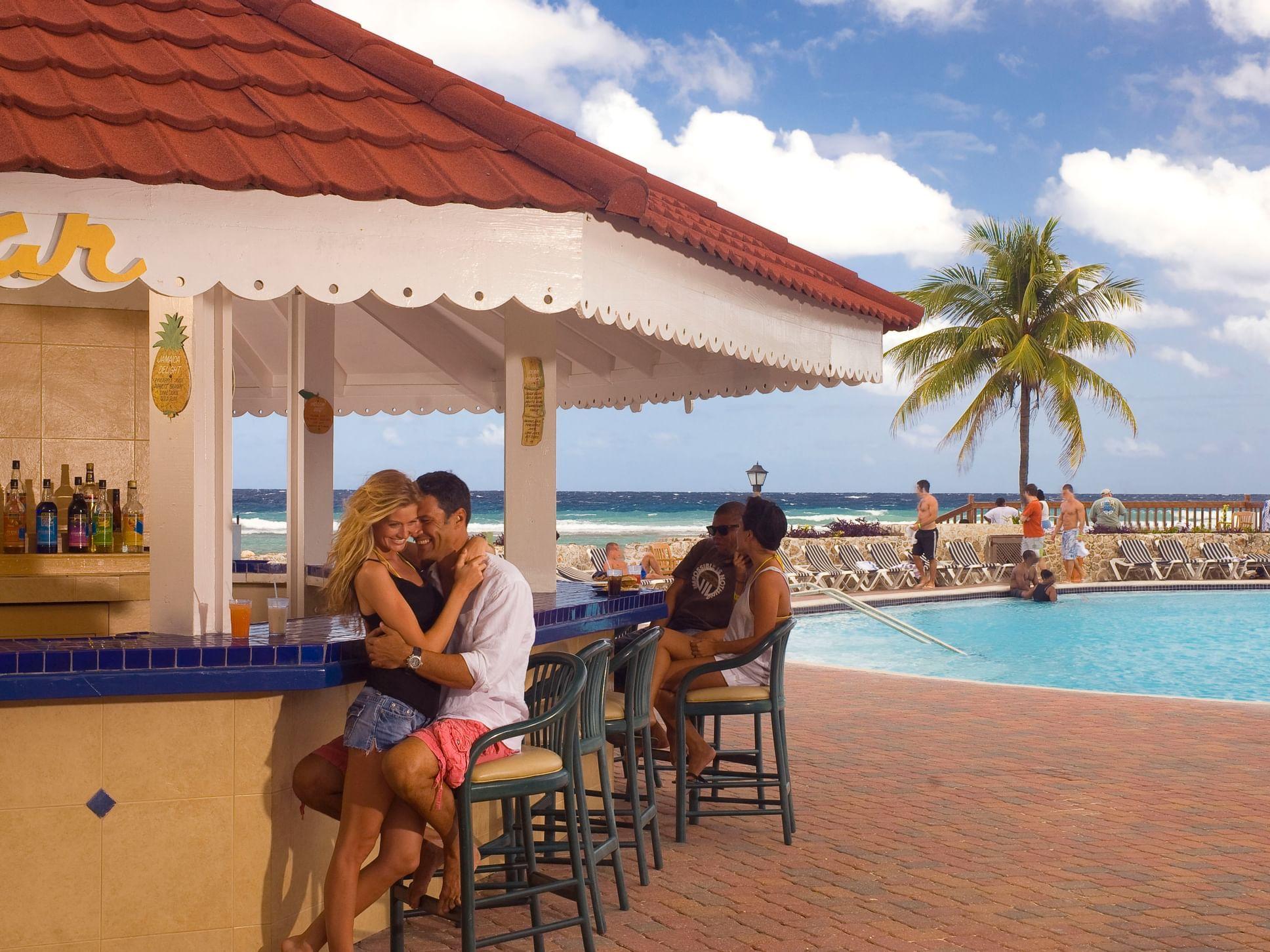 Exterior of Barefoot Bar & Grill at Holiday Inn Montego Bay