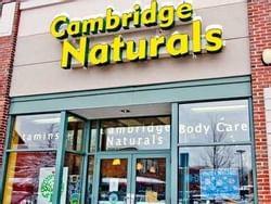 Entrance to Cambridge Naturals store