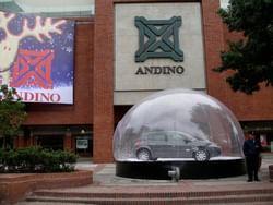 Exterior of Centro Comercial Andino near Bogotá Plaza Hotel