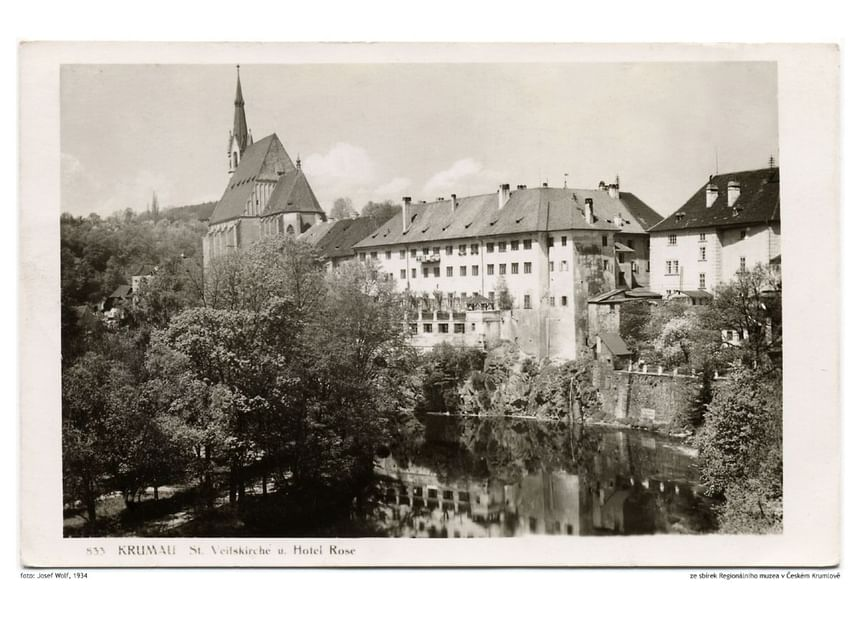 1934 - Hotel Ruze, Český Krumlov, Czech Republic