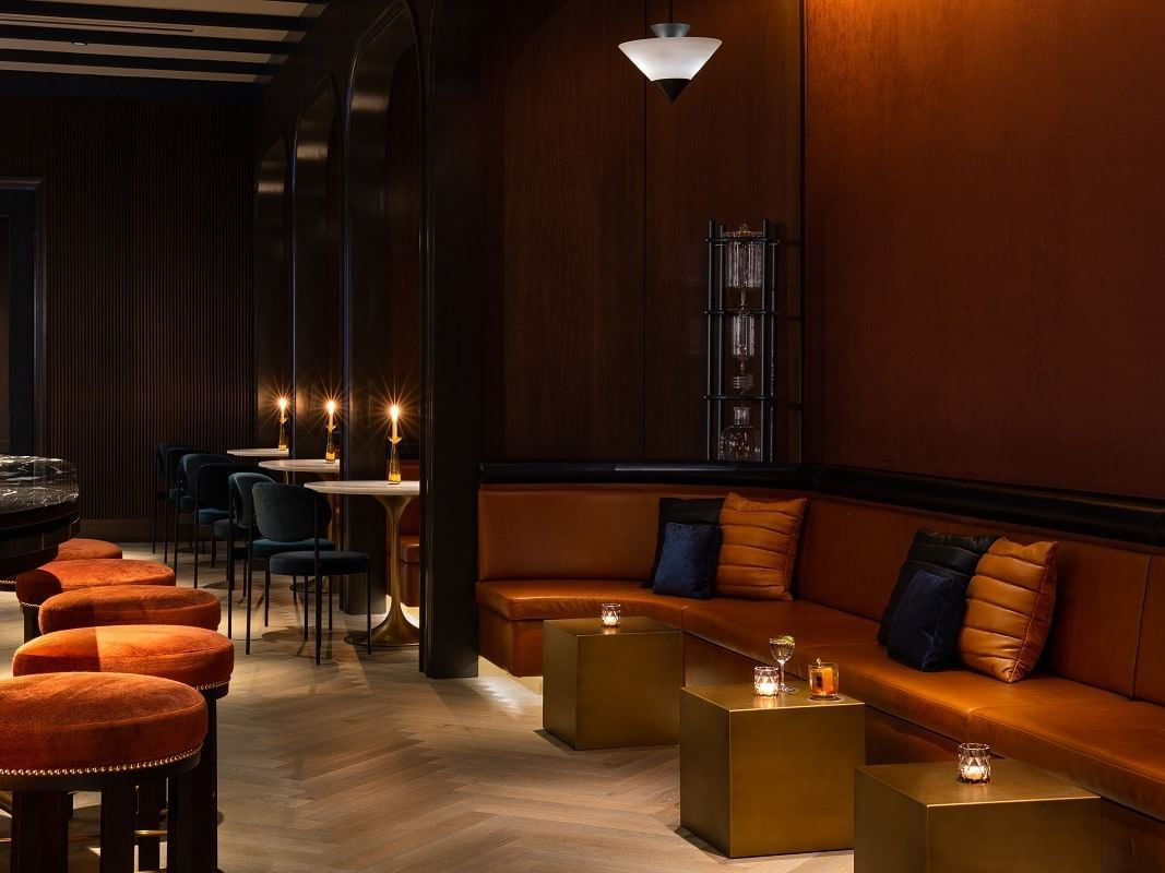 Sofa set & chairs in back bar  area at Dream Nashville