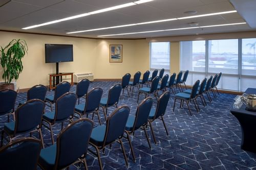 Seating arrangement done in the meeting room at Bay Club Hotel