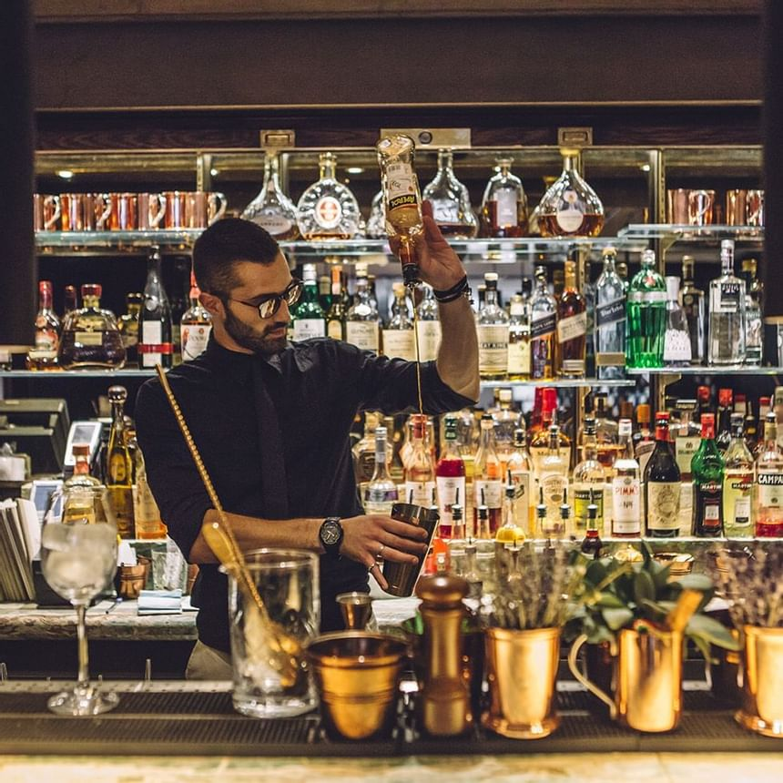 Mixing Cocktails At May Fair Kitchen