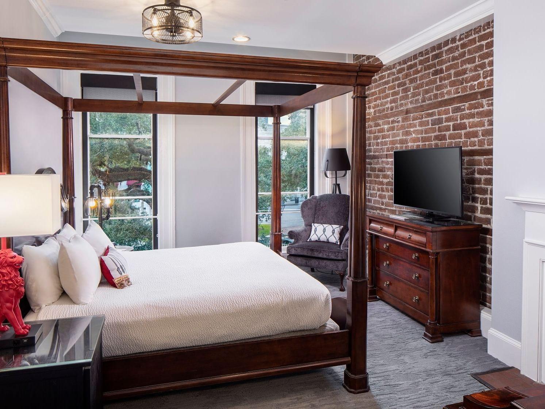 Fully equip bedroom  at River Street Inn