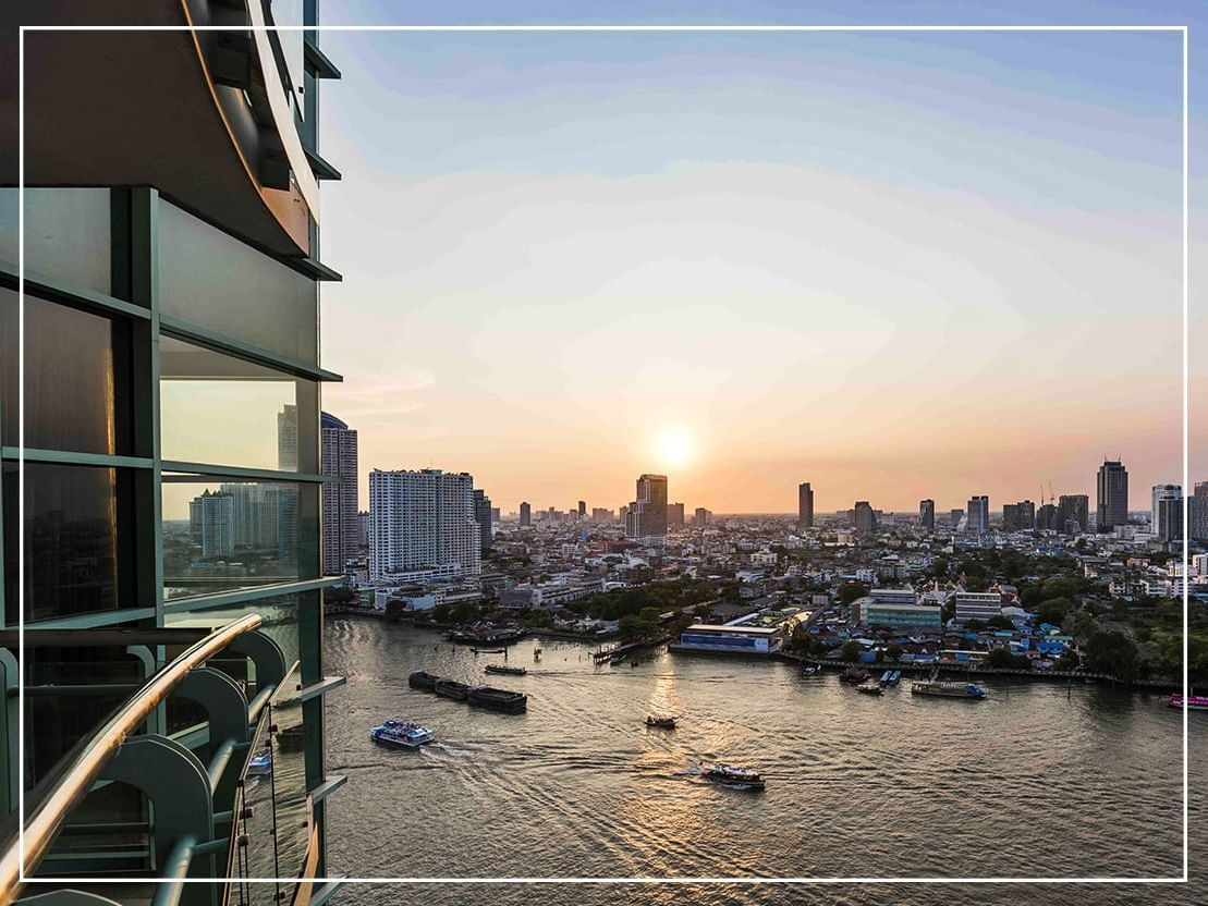 City view from grand Suite One Bedroom Skyline River View at Chatrium Hotel Riverside Bangkok
