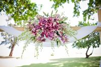 Hammock with a wedding bouquet at Waimea Plantation Cottages