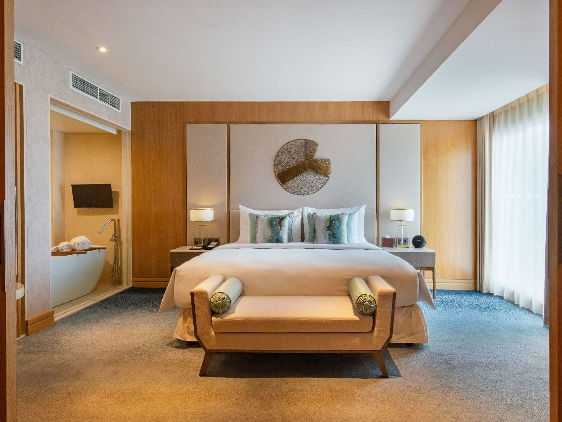 Bedroom of Glacier Suite in Vasa Hotel Surabaya