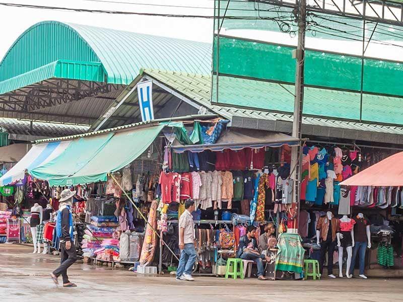 Ban Laem-Cambodian Border Market near Chatrium Golf Resort Soi Dao Chanthaburi