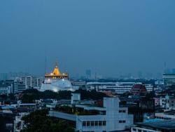 The Golden Mount (Wat Saket) near Chatrium Hotel Riverside Bangkok