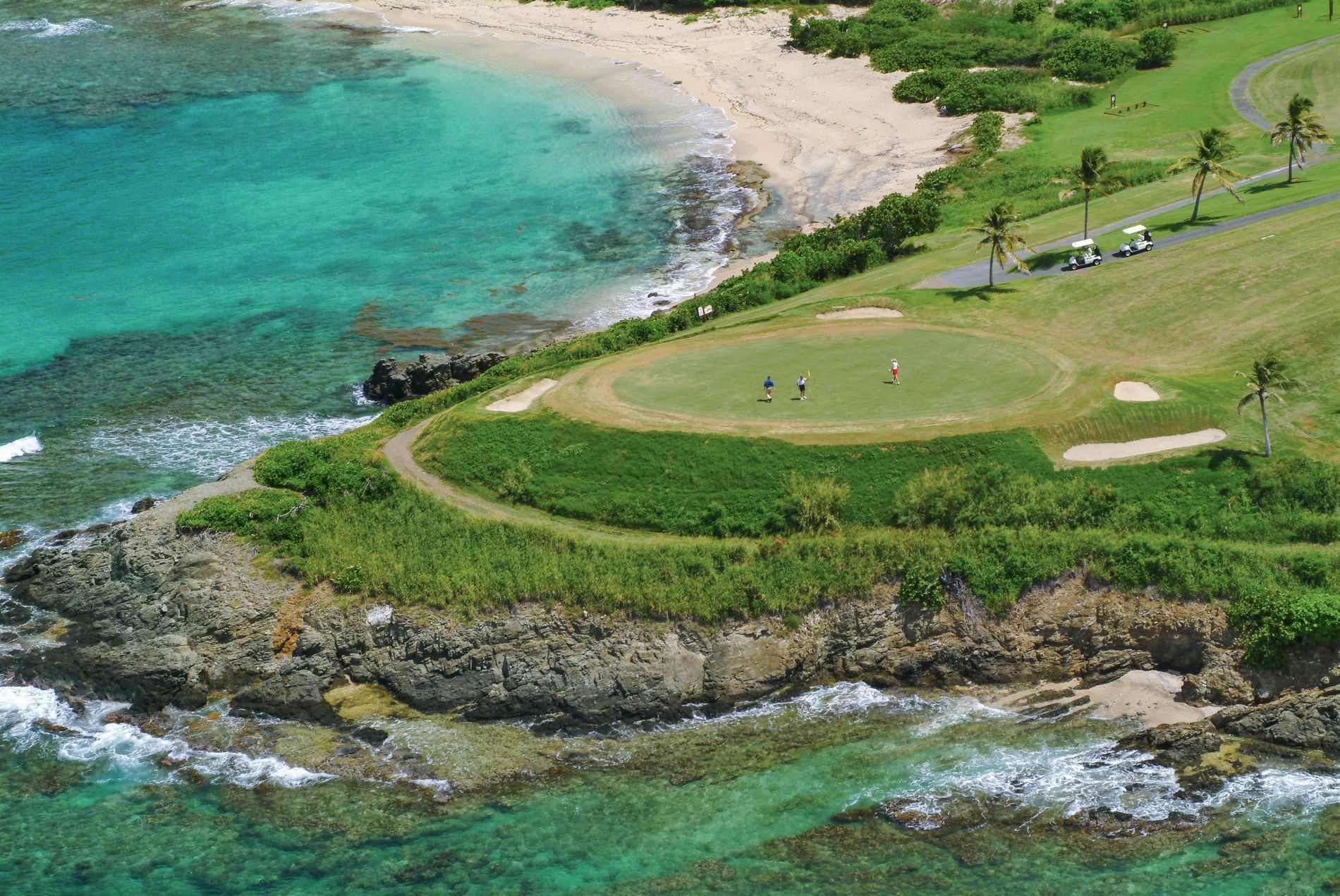 Golf Course with coastal view