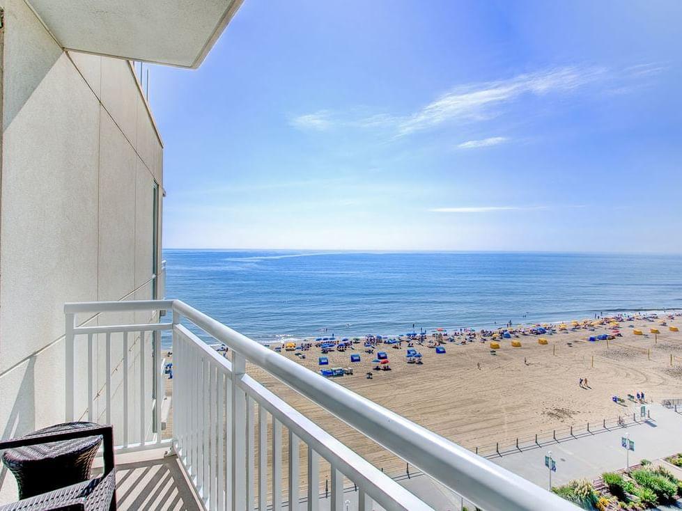 Partial ocean view studio at Diamond Resorts Virginia Beach