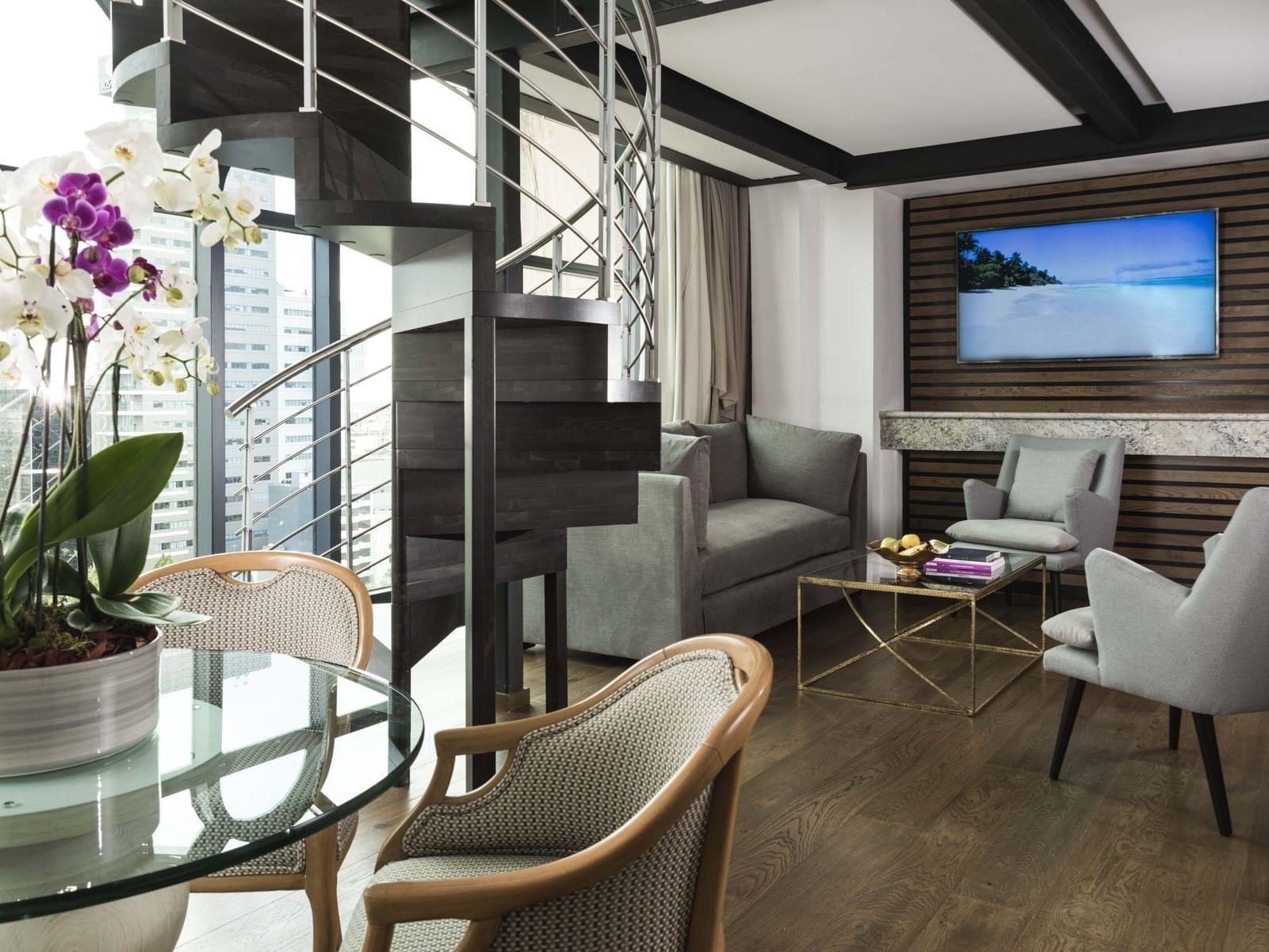 Loft Suite Sitting area at Marquis Reforma