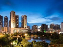 Benjasiri Park near Chatrium Hotel Riverside Bangkok