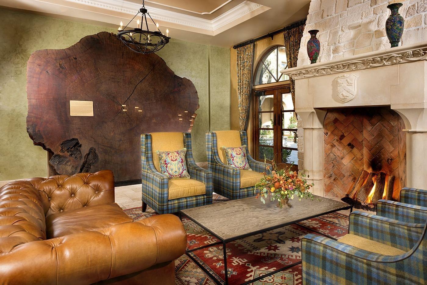 The interior of the Allegretto Vineyard Resort living room style