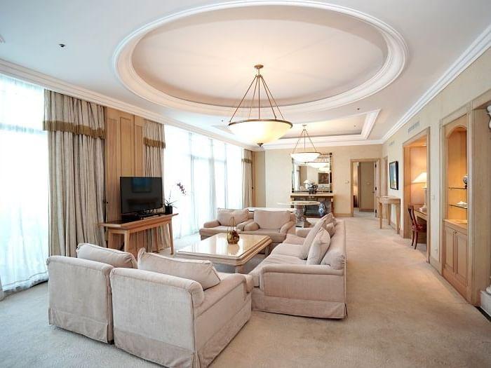 Presidential Suite living area at Hanoi Daewoo Hotel