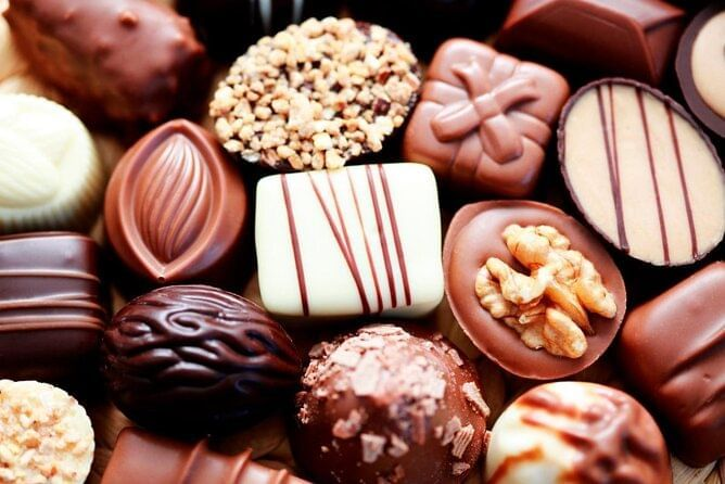 Chocolates at Haigh's Chocolate Visitor Centre near Grosvenor Hotel Adelaide