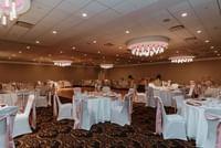 Pink and White Wedding Set Up