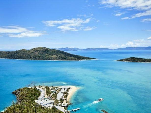 Aerial view of surrounding of Daydream Island Resort