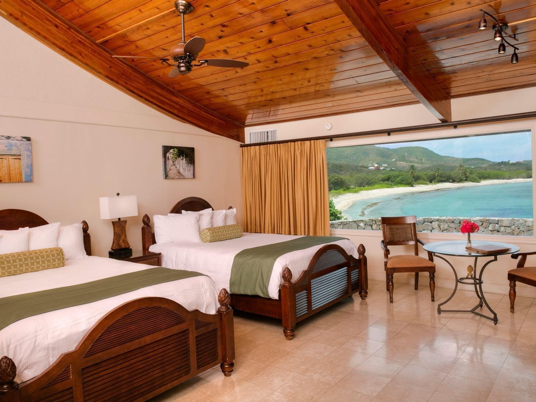 Deluxe Oceanfront Room Interior with Ocean View