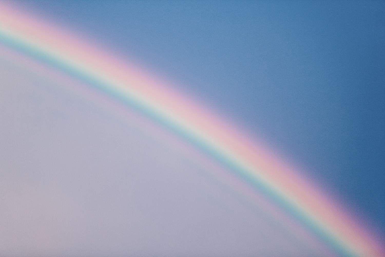 bright rainbow in Hawaii