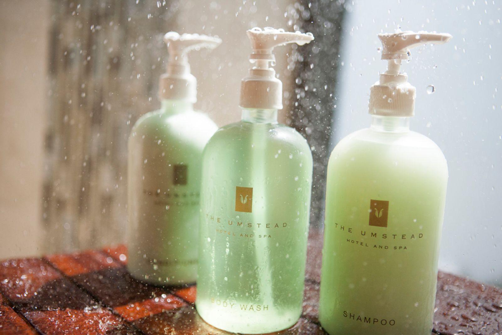shampoo, body wash and conditioner