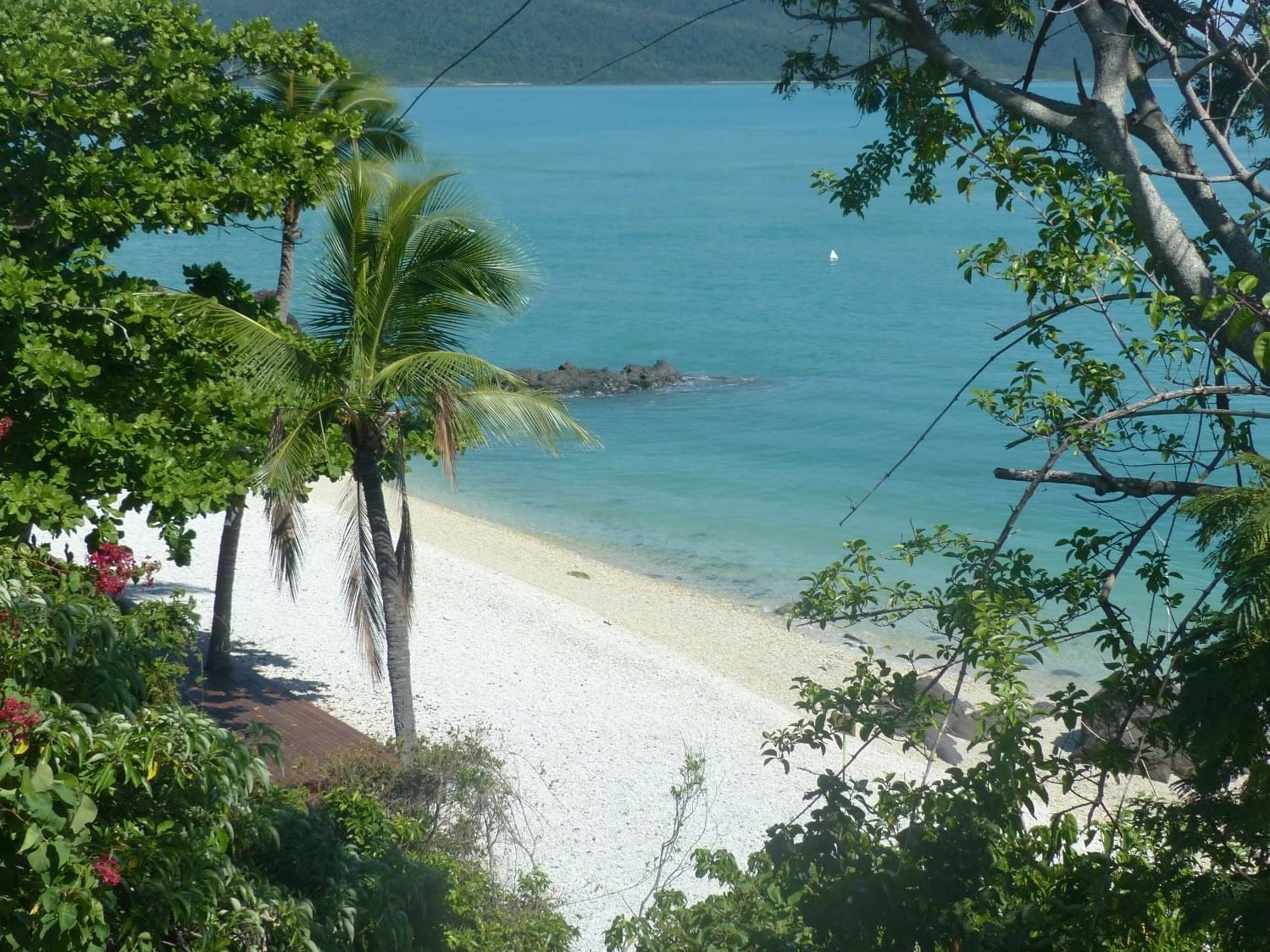 Ocean view from Lovers cove bar at Daydream Island Resort