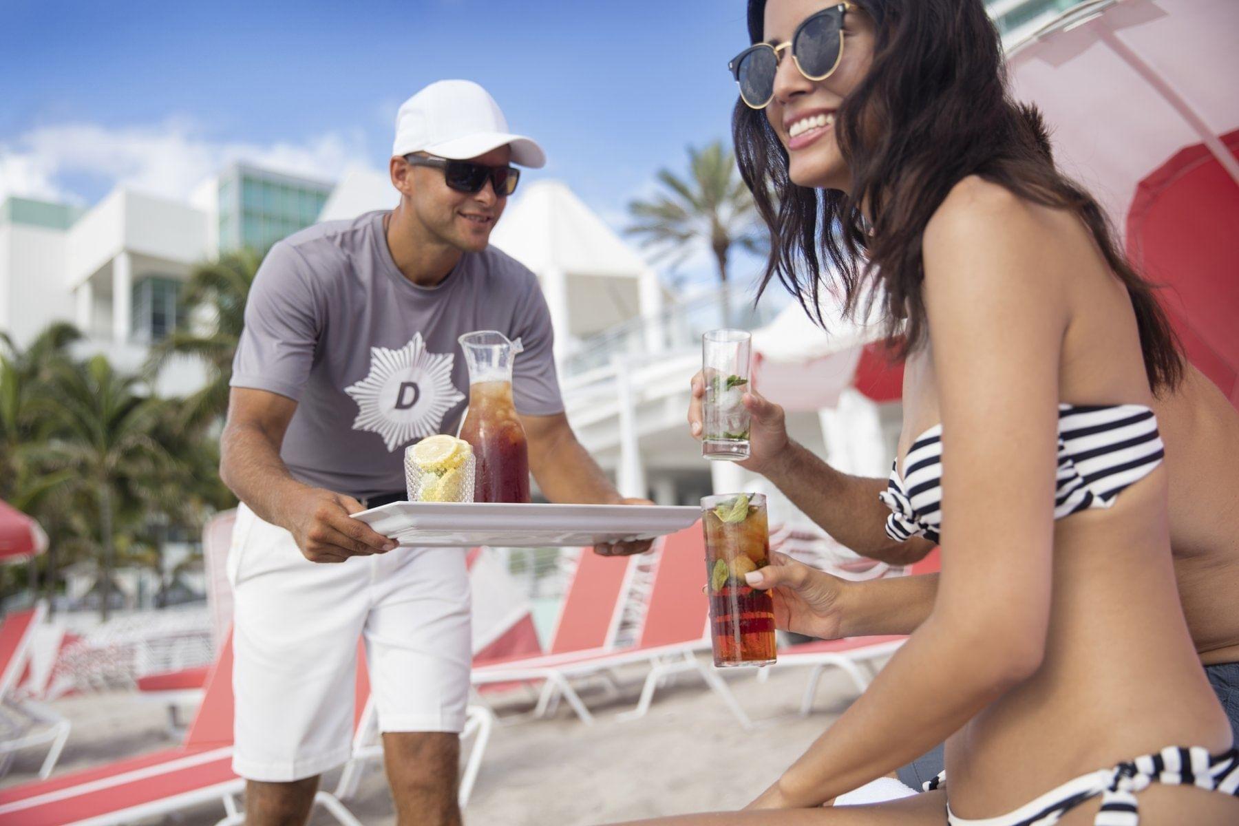 Drink Service at Beach - The Diplomat Resort