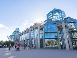 glass exterior of national gallery of canada