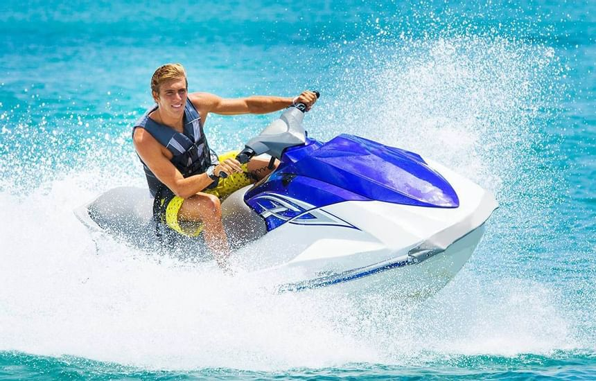 Jetski riding on the sea in Sealine Beach Resort