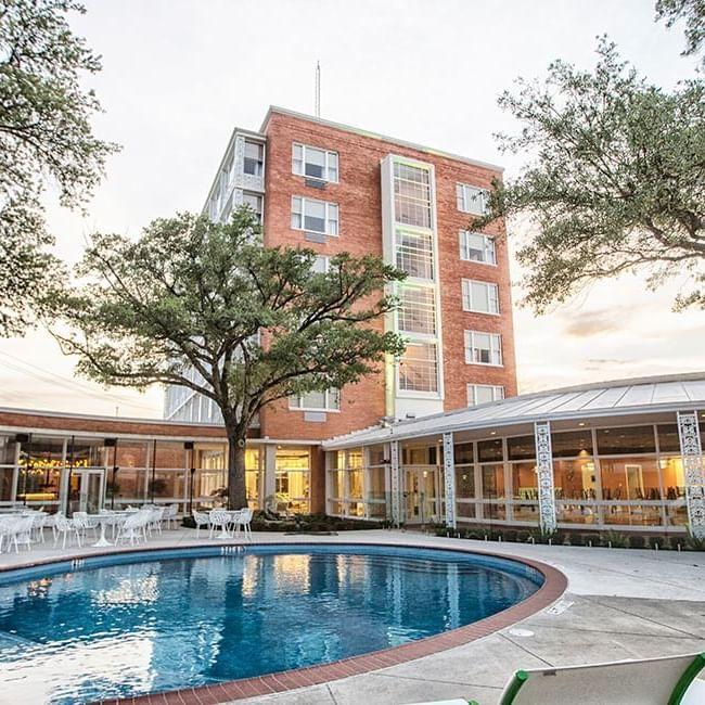 cabana pool and patio