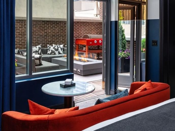 View of outdoor space of Terrace Suite at Dream Nashville