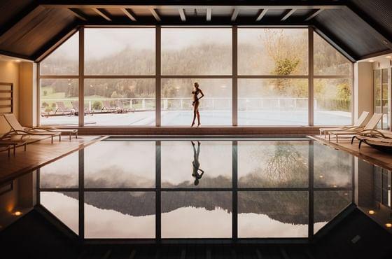 Indoor Pool at IMLAUER Hotel Schloss Pichlarn