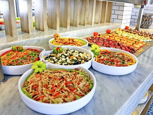 Selection Of Salads At Labranda Corralejo Village