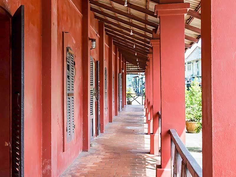 The Red Building near Chatrium Golf Resort Soi Dao Chanthaburi