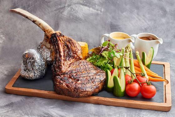 Tomahawk Ribeye Steak in Planter's Restaurant at Danna Langkawi