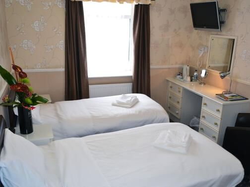 Accessible Room with two beds at Lyndene Hotel