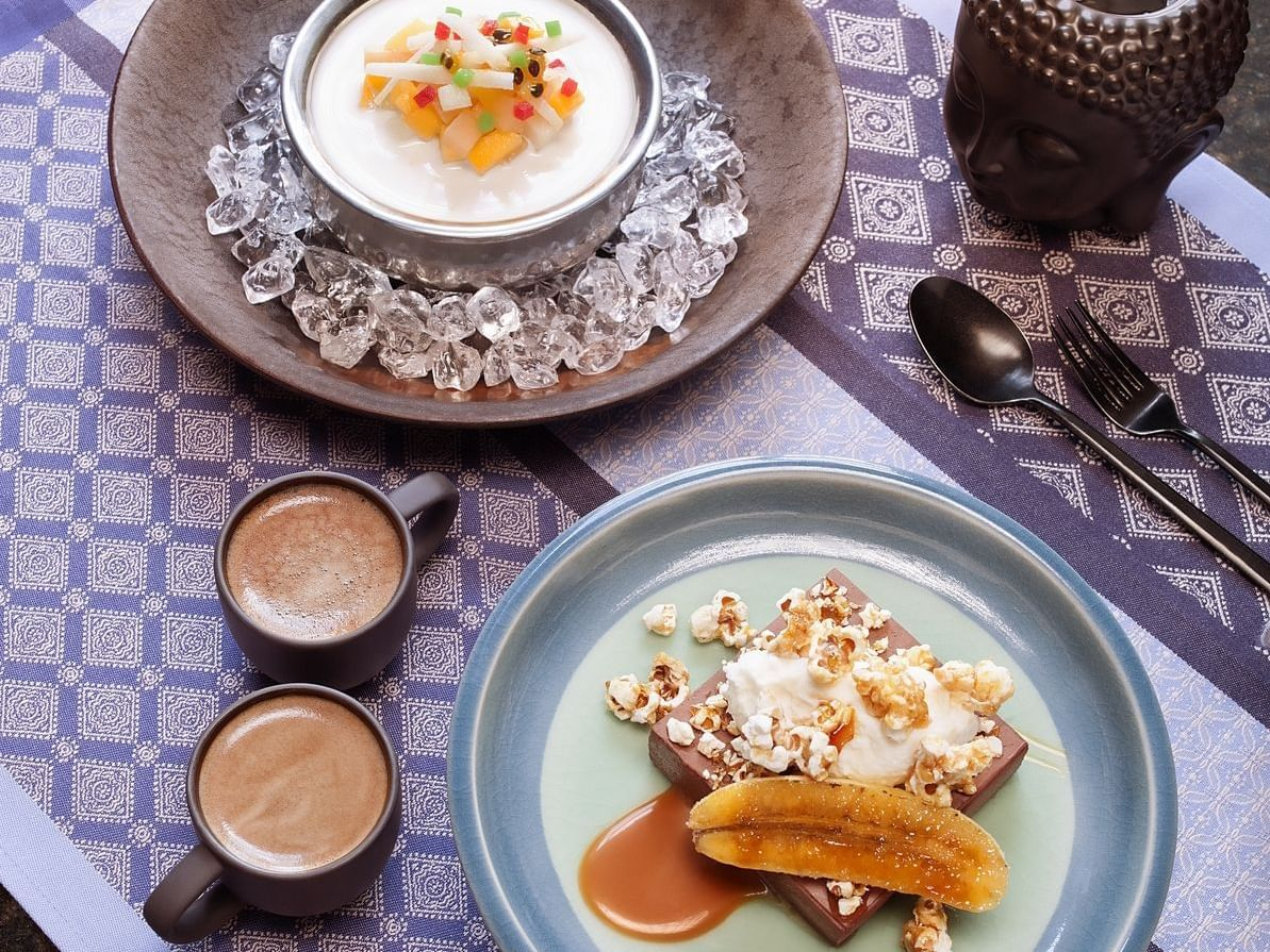 Close up on desserts at Live Aqua San Miguel de Allende
