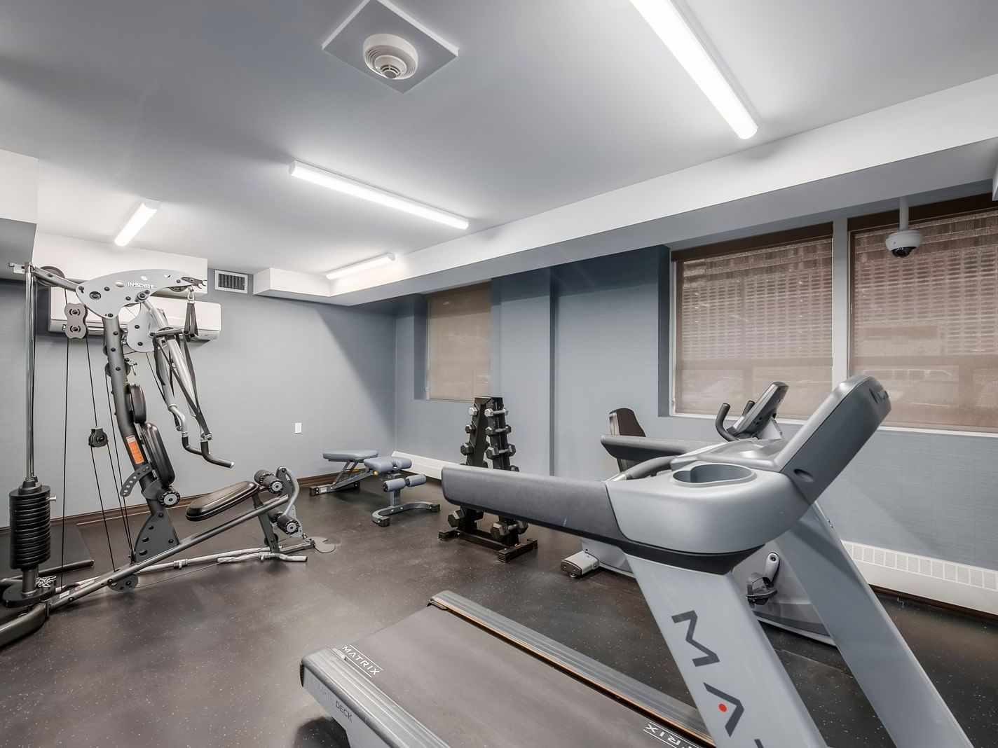 gym with treadmill