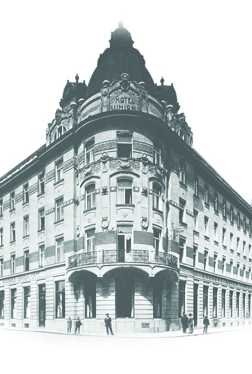 Old photos from Grand Hotel Union in Ljubljana