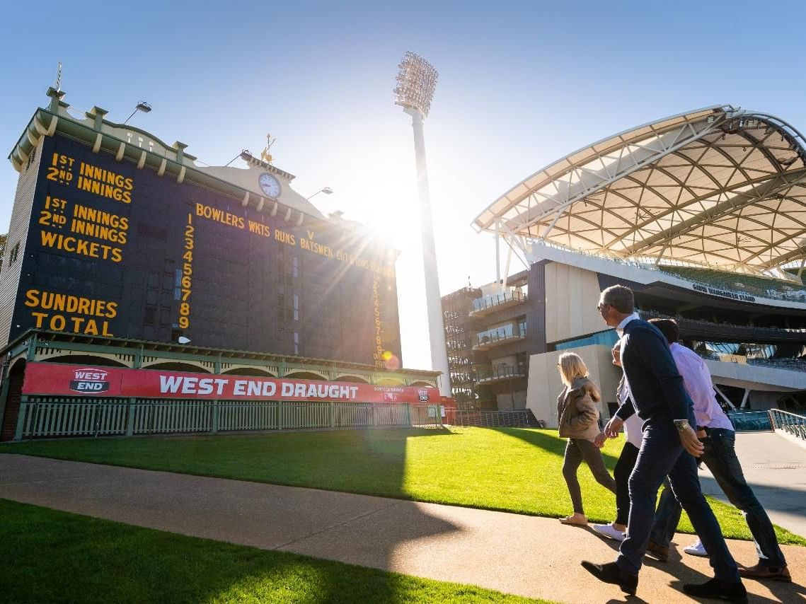 People working towards the Adelaide Oval Stadium Tours