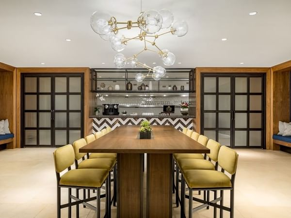 Pantry Boardroom with seats for 12 people at Dream Hollywood LA