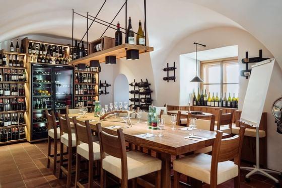 Veranstaltung in der Wein Lounge von Schloss Pichlarn