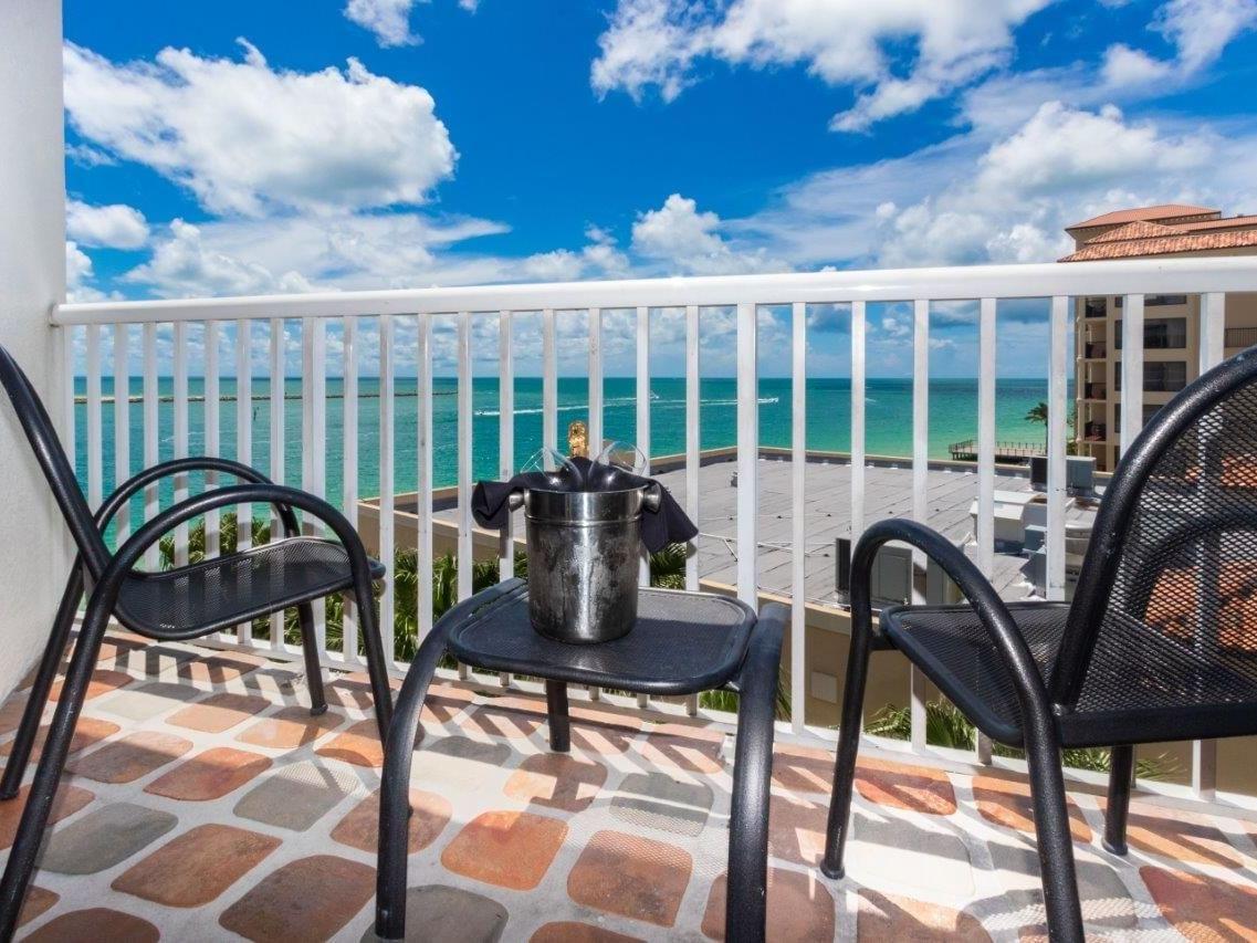 Balcony of ocean view room at Shephard's Beach Resort