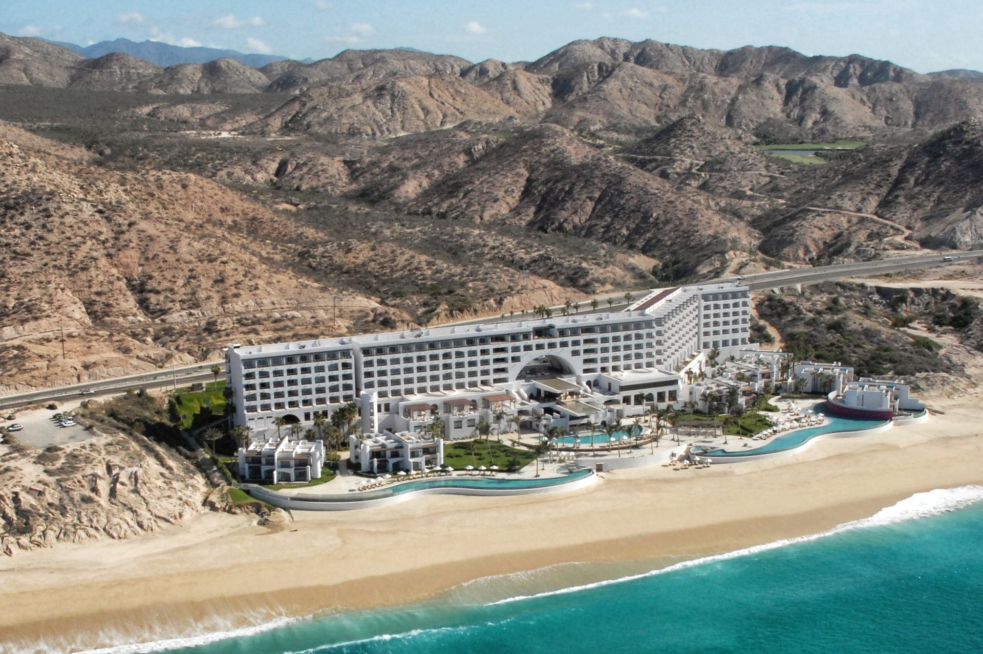 Aerial view of a beachfront resort - Marquis Los Cabos