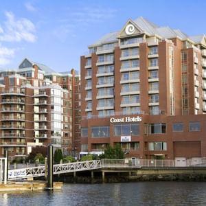Exterior of Coast Victoria Hotel & Marina by APA next to water